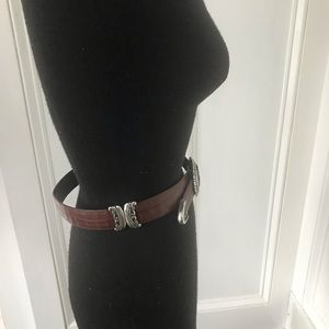 Brighton Accessories - Brighton reversible belt (brown & black) sz small